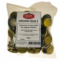 Crown Seals x 100 Gold Beer Bottle Caps image
