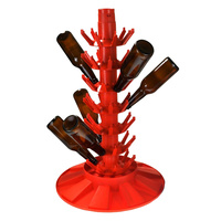 Bottle draining tree - orange Italian Made image
