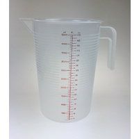 Jug Polypropylene 5L graduated measuring image