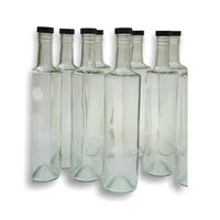 6x Spirit Bottle 700ml round & black plastic cap image