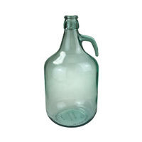 Glass Bottle Demijohn 5lt with handle (NO Clip) / Carboy / Gallon Jar image