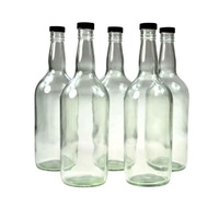 6x Spirit Bottle Glass 1125ml & cap image