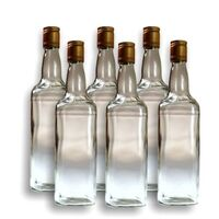 6x Spirit Bottles Jimmy Square & Cap 700ml image