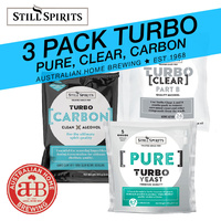 3 Pack Still Spirits Pure Turbo Yeast Turbo Carbon Turbo Clear - Triple Distilled image