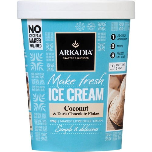 Make Fresh Ice Cream Coconut & Dark Chocolate Arkadia