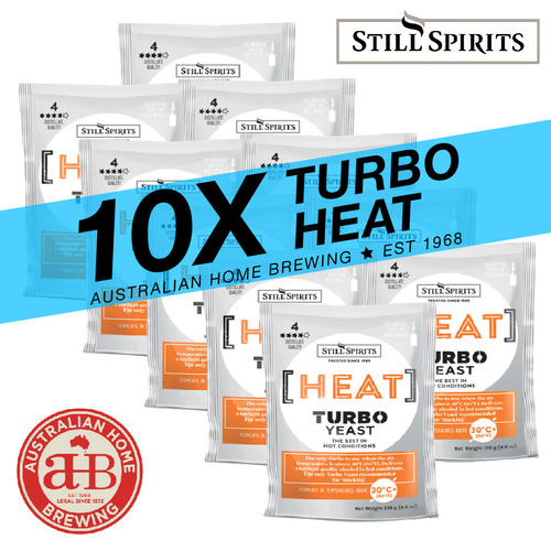 10 Pack Still Spirits Heat Turbo Yeast